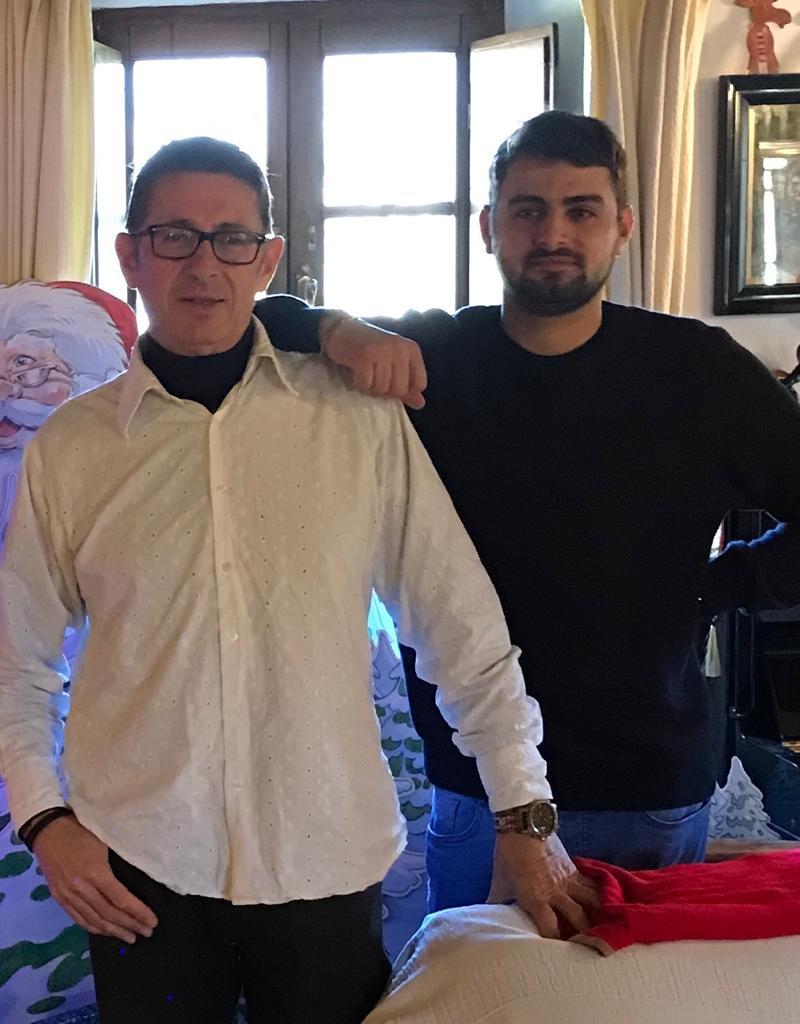 Raffaele and Gennaro Nobile at Villa Nobile